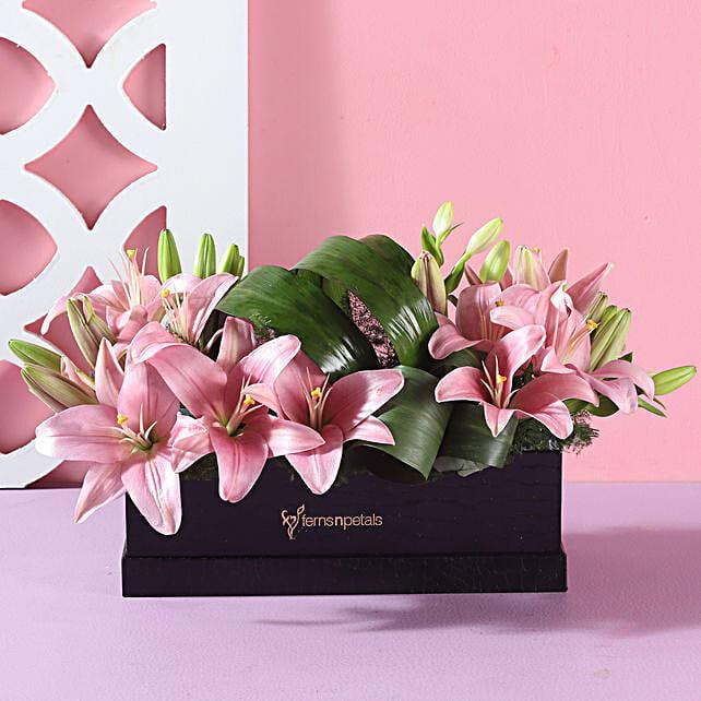 box flower arrangement for him