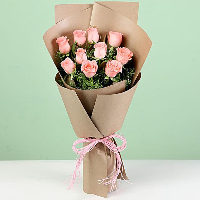 Online Pink Rose Bouquet
