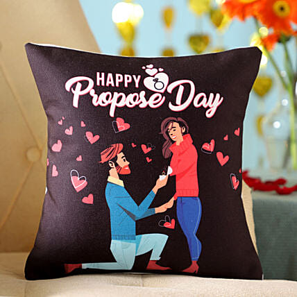 Online Propose Day Cushion