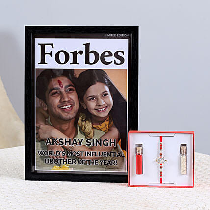 stylish rakhi with photo frame online