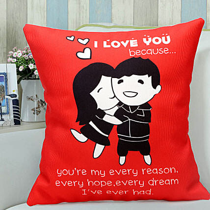 Red Hug-1 12x12 Red Hug Cushion