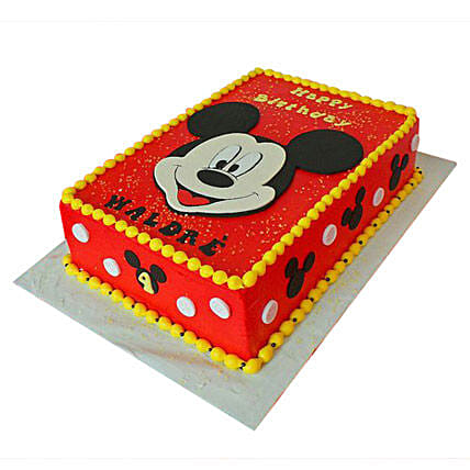 Mickey Face Themed Birthday Cake 2kg