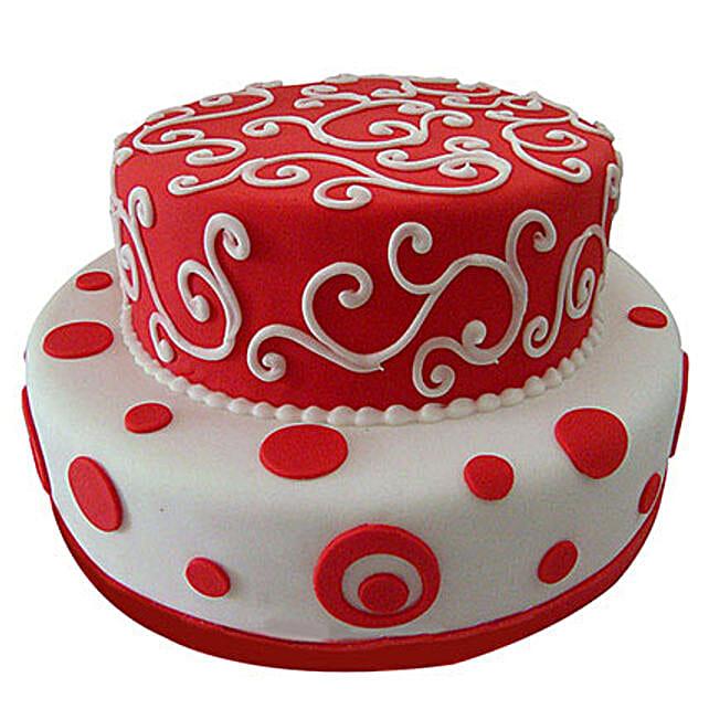 2 tier designer cake 3kg