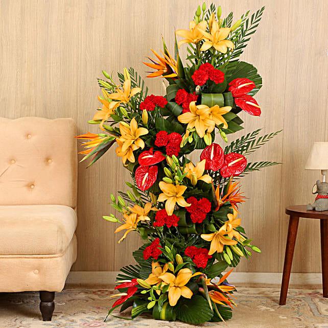 Online Colorful Flower Bouquet Arrangement