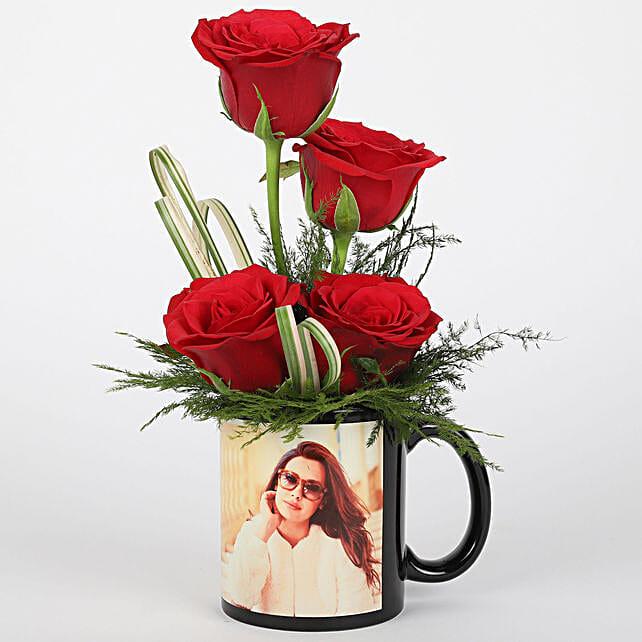 Lovely rose in photo coffee mug