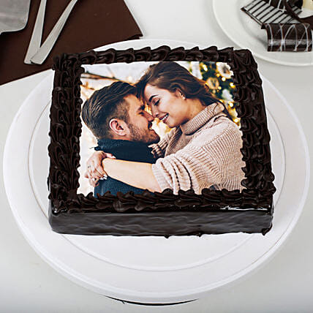 Chocolate Personalised Photo Cake