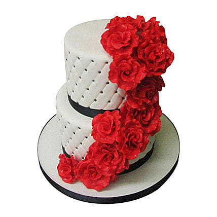 2 tier wedding cake 4kg