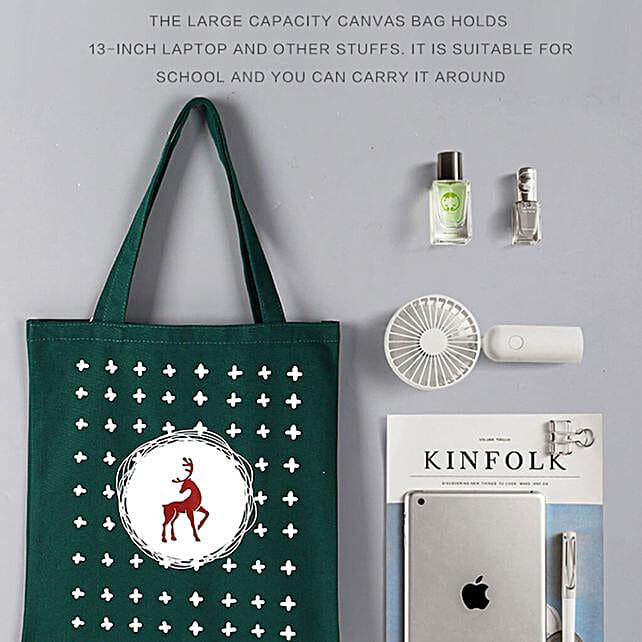 Reindeer Theme Tote Bag