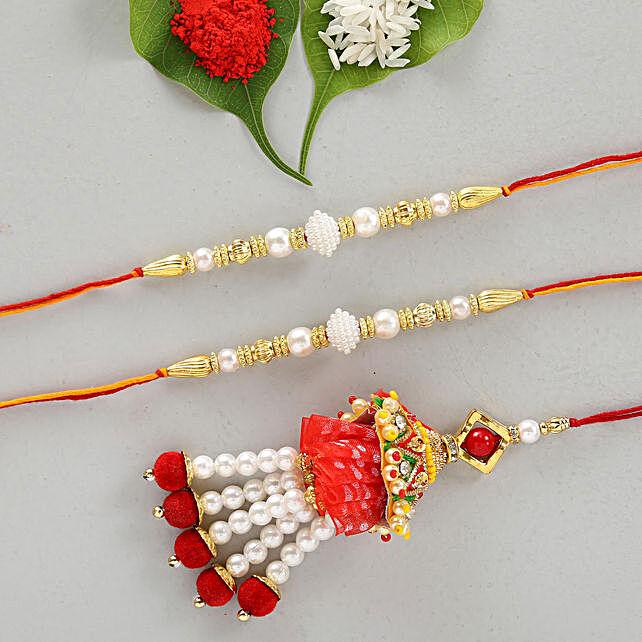 Set Of 3 Dazzling Designer Rakhis
