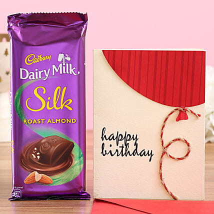Chocolate with Birthday Greetings Online
