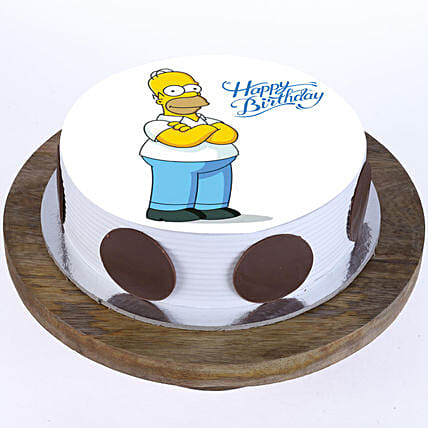 Online Simpsons Photo Cake For Kids