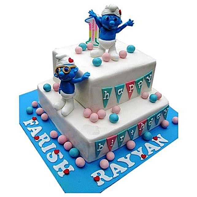 Smurfs Birthday Cake 3kg