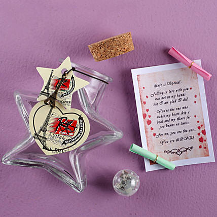 Star Shaped Message Bottle