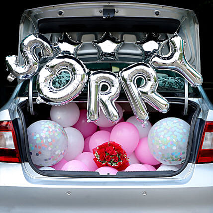 Car Deck Decoration to Say Sorry