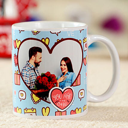 Struck By Love White Personalised Mug