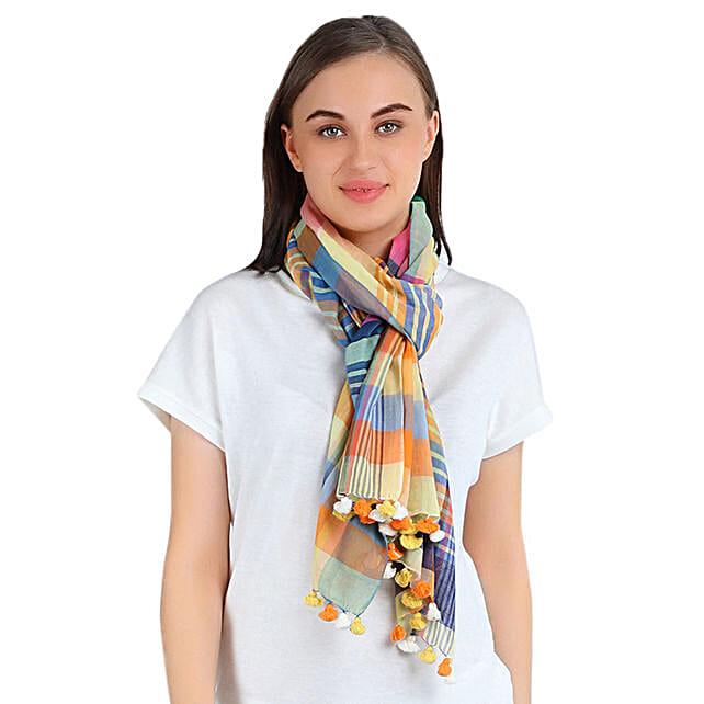 designer cotton scarf online