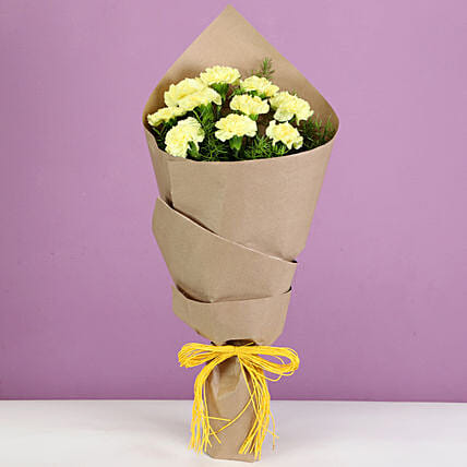 lovely yellow carnation online