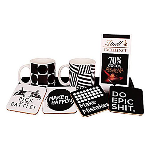 Sweet Kiss For Love-Coasters set of 4,two coffee mugs