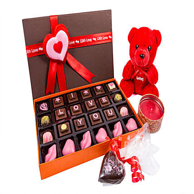 Chocolates with Teddy Combo