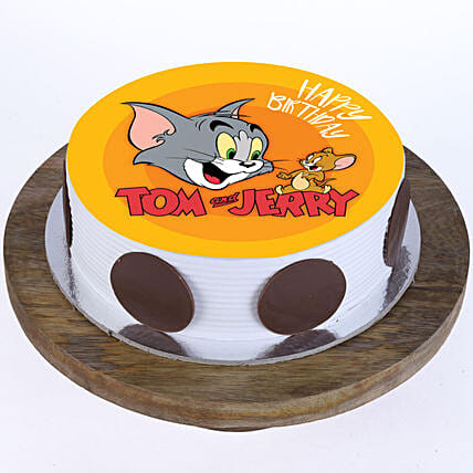 Online Tom n Jerry Photo Cake For Kids