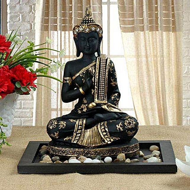 Black meditating Buddha