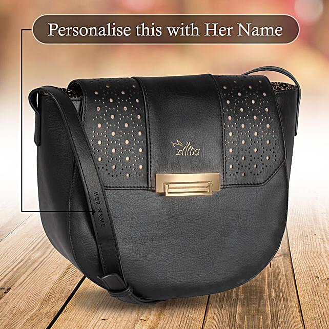 Black Small Sling Bag for Women