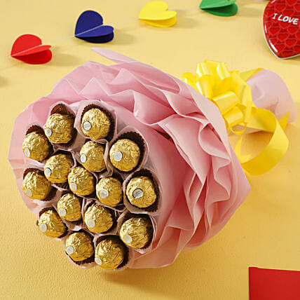 Ferrero Rocher Chocolate Bouquet chocolates womens day women day woman day women's day