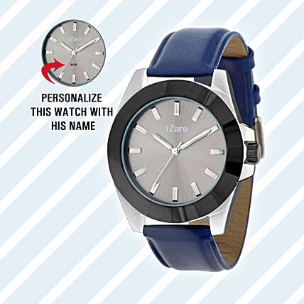 Personalised Black & Grey Watch For Him