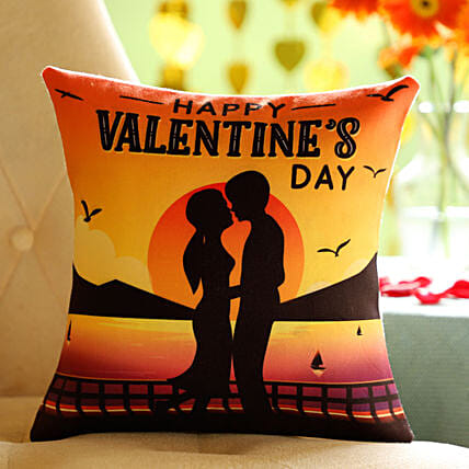 Online Valentine's Day  Wishes Cushion