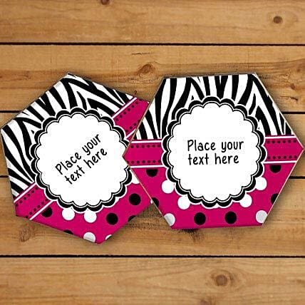 Vibrant Personalized Coasters-Red and balck personalized coasters,4 size 3.3x3.3