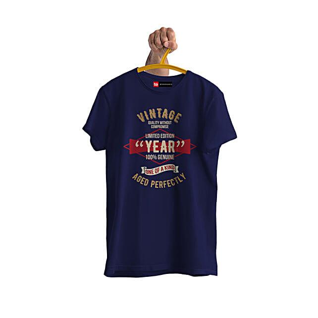 Online Vintage Limited Edition Personalised Tshirt
