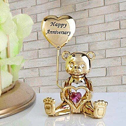 Swarovski happy anniversary greeting bear