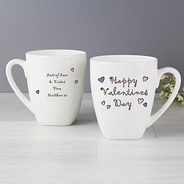 Personalized Happy Valentines Day Latte Mug
